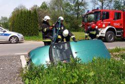 Wypadek na ul. Modrzewiowej