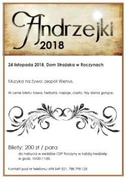 Andrzejki 2018 – Serdecznie zapraszamy :)