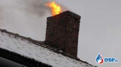 Pożar sadzy w kominie. Co robić?